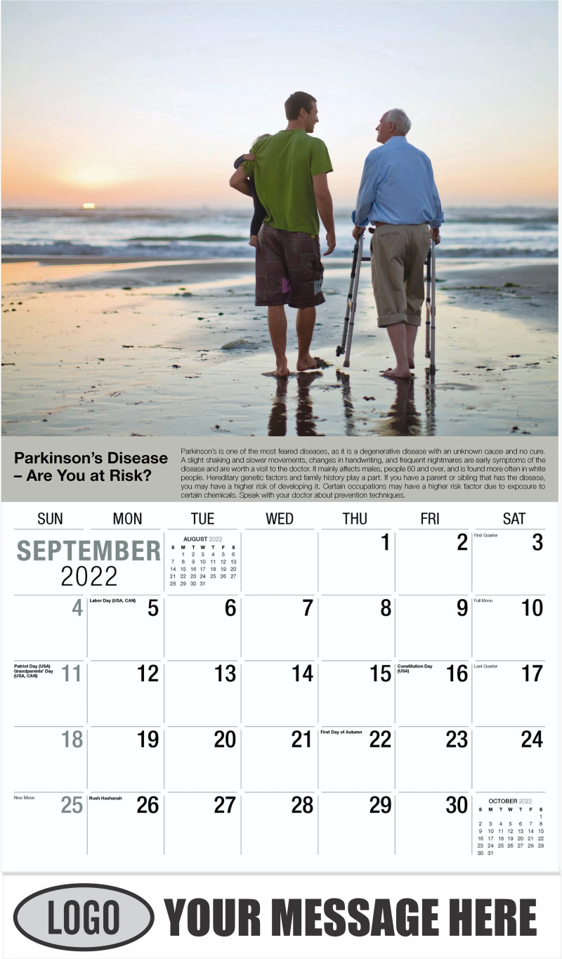 September - Health Tips 2022 Promotional Calendar