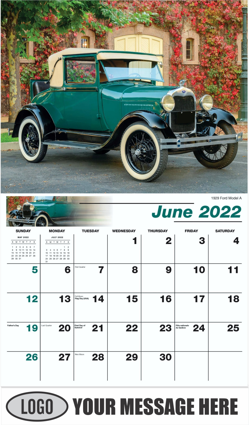 1929 Ford Model A - June - Henry's Heritage Ford Cars 2022 Promotional Calendar