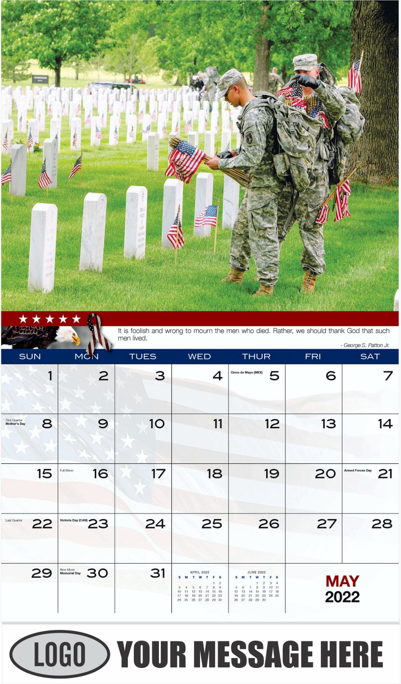 The Old Guard - May - Home of the Brave 2022 Promotional Calendar