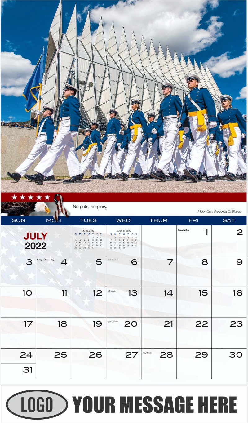 U.S. Air Force Cadets - July - Home of the Brave 2022 Promotional Calendar