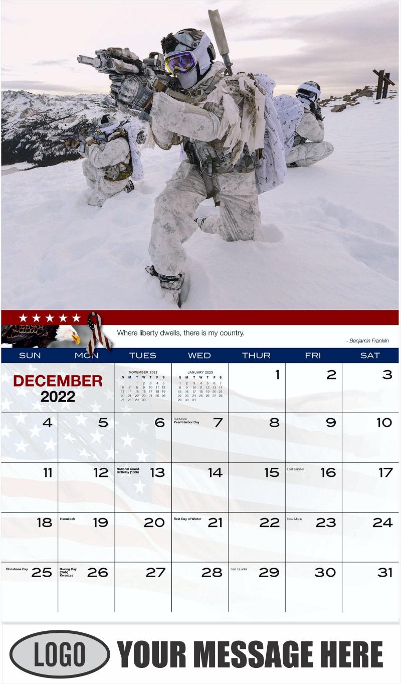 U.S. Navy SEAL - December 2022 - Home of the Brave 2022 Promotional Calendar