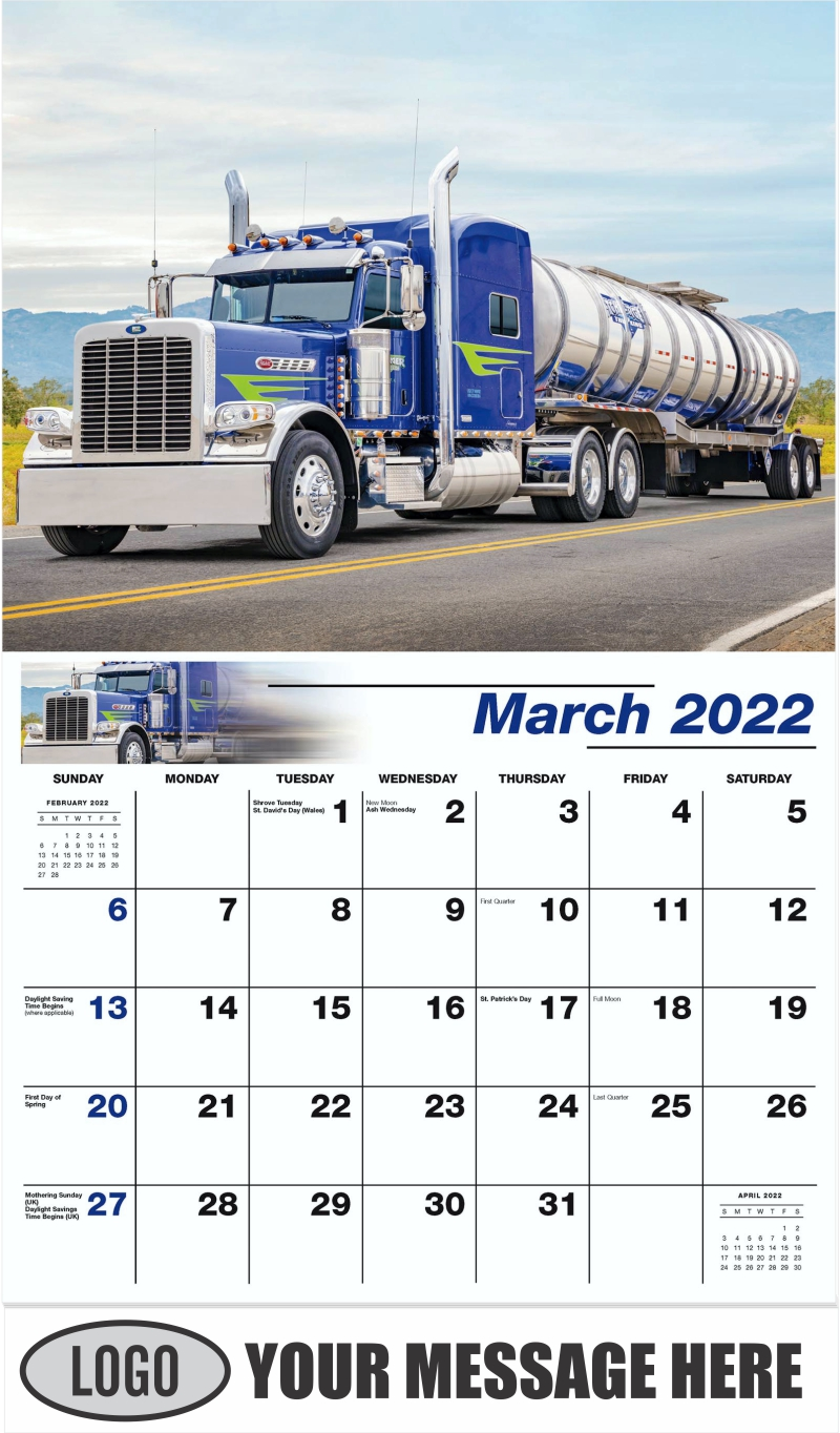 2005 Peterbilt 389 - March - Kings of the Road 2022 Promotional Calendar