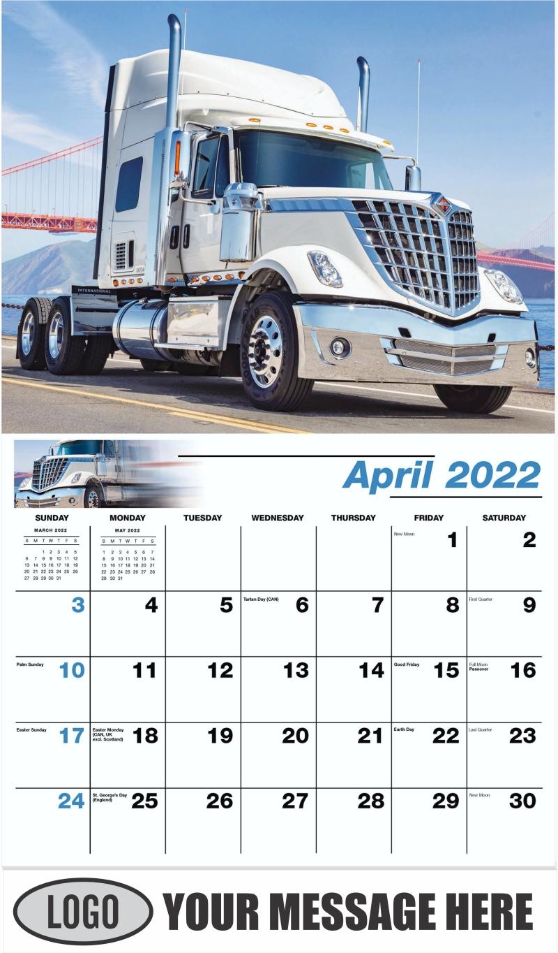 2018 International Lonestar - April - Kings of the Road 2022 Promotional Calendar