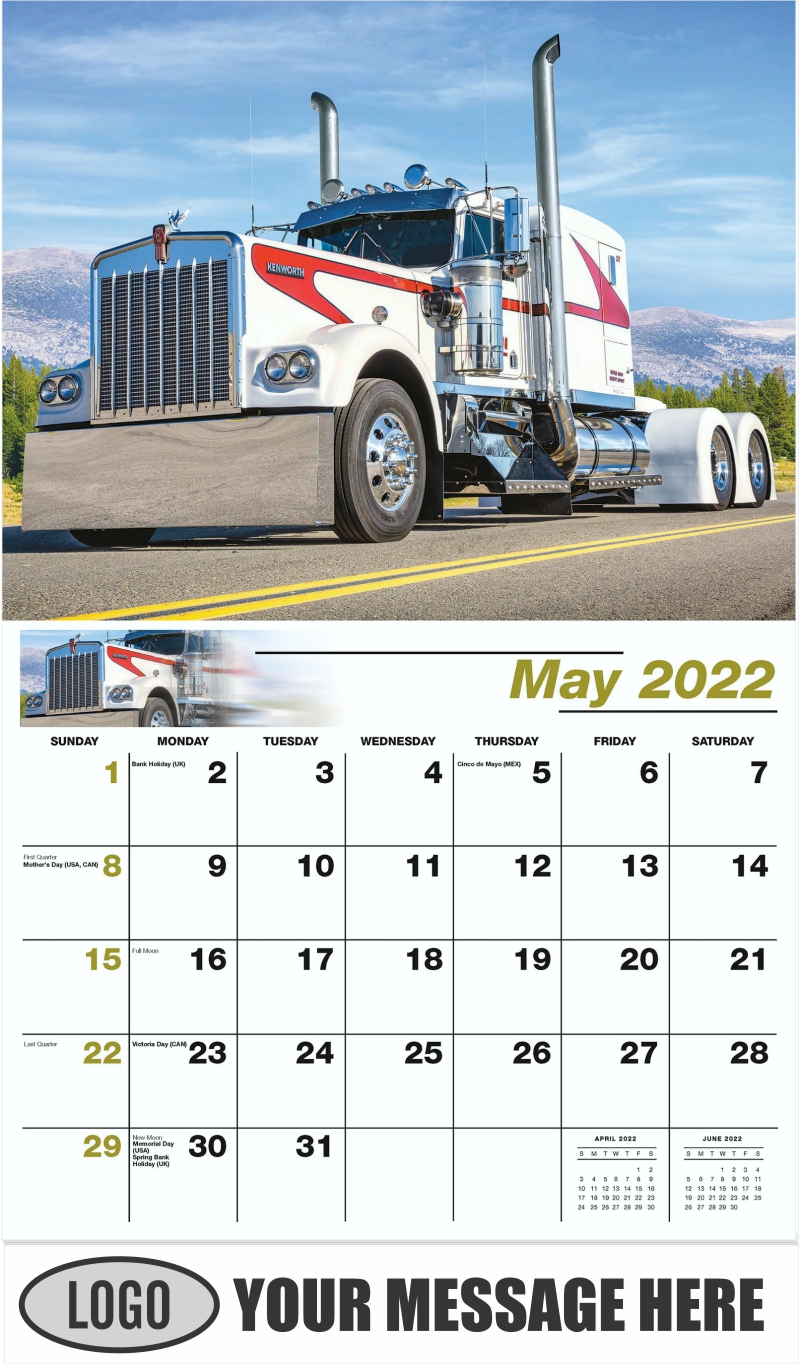 1975 Kenworth W900A - May - Kings of the Road 2022 Promotional Calendar