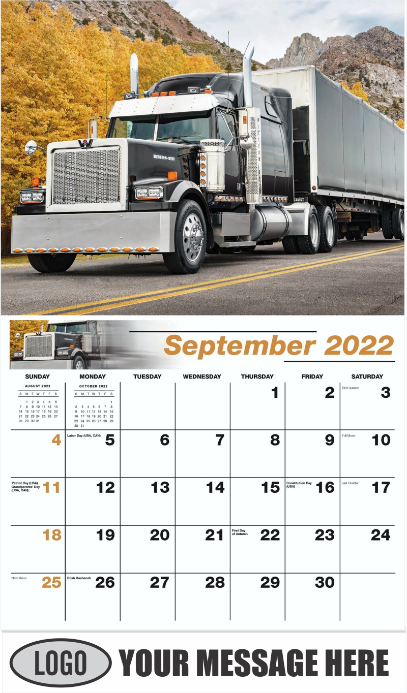 2012 Western Star 4900 - September - Kings of the Road 2022 Promotional Calendar