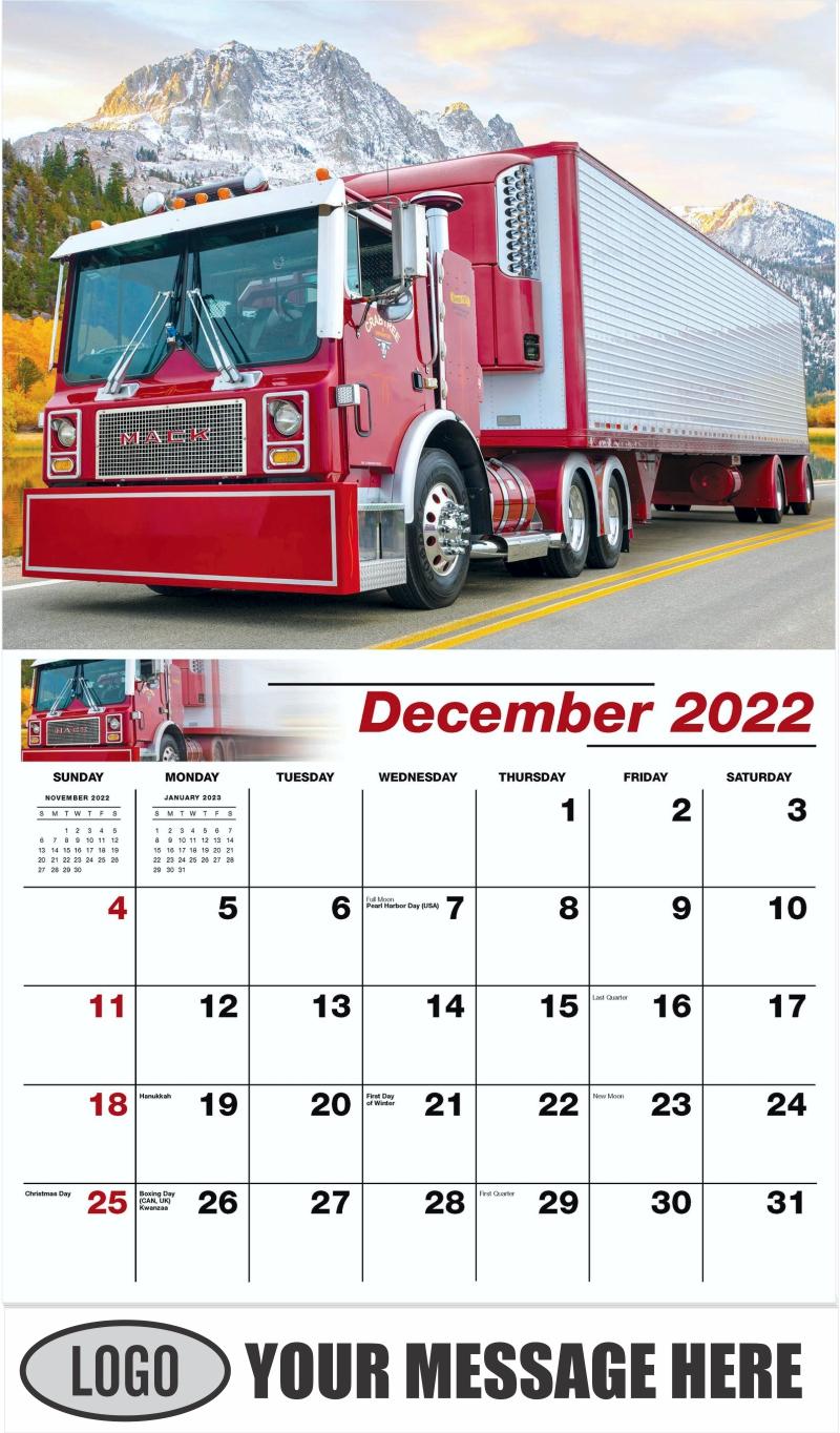 1997 Mac MR688S - December 2022 - Kings of the Road 2022 Promotional Calendar