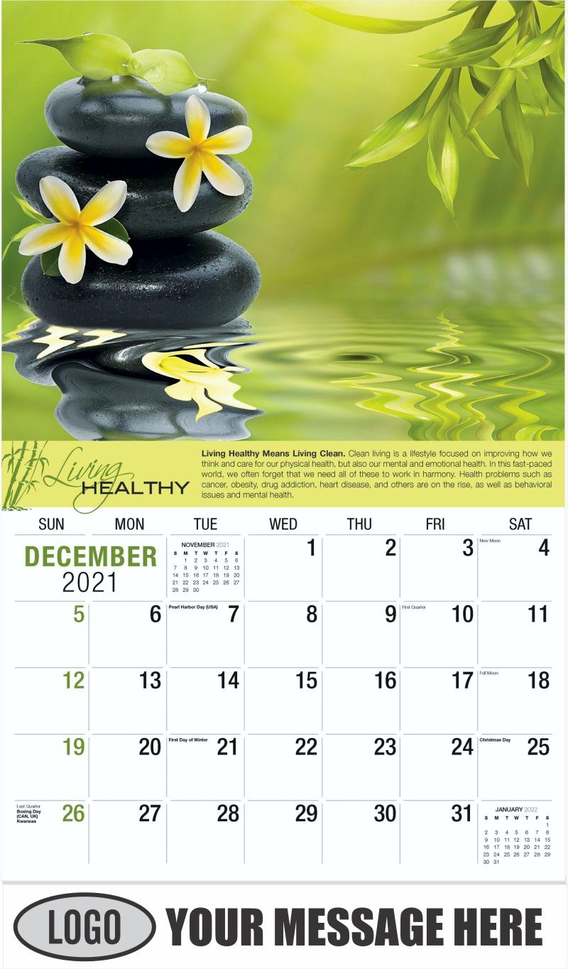 December 2021 - Living Healthy 2022 Promotional Calendar