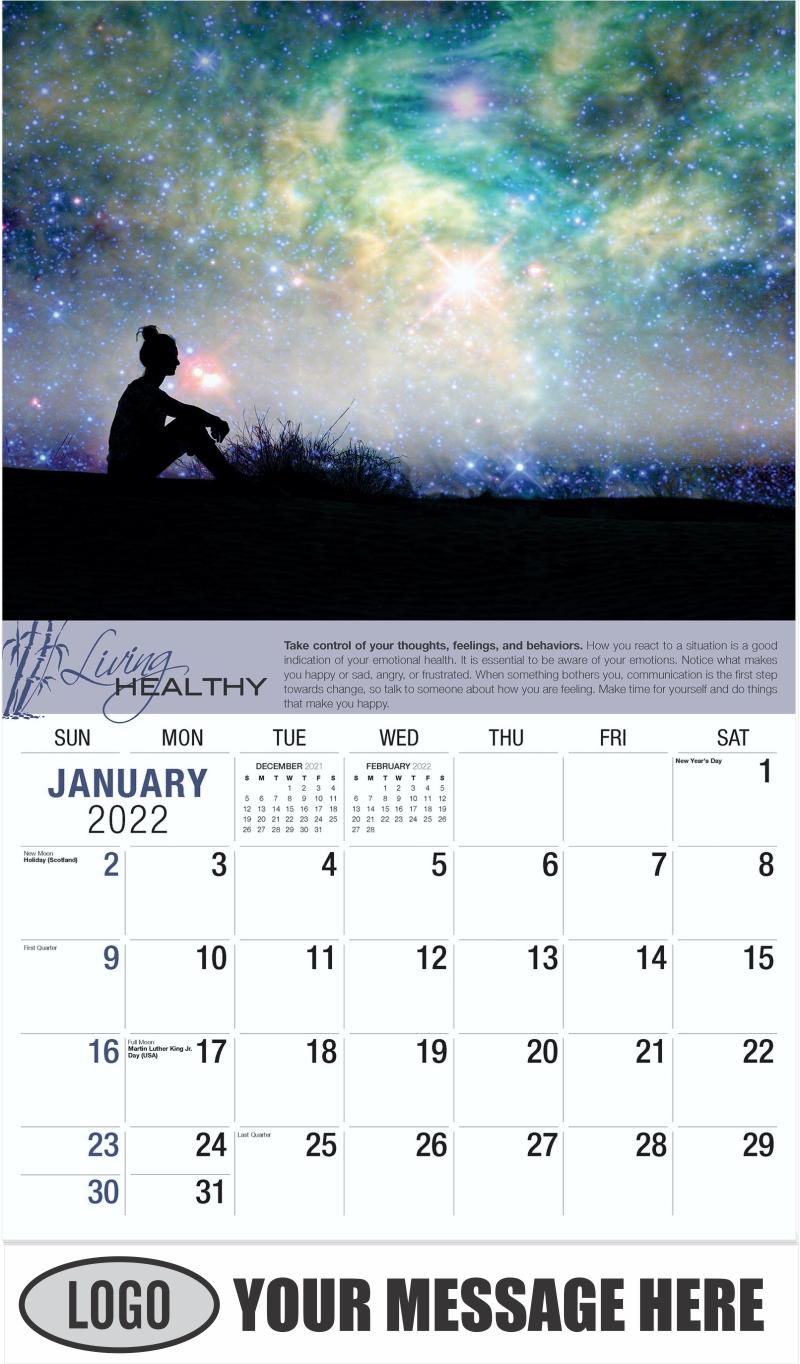 January - Living Healthy 2022 Promotional Calendar