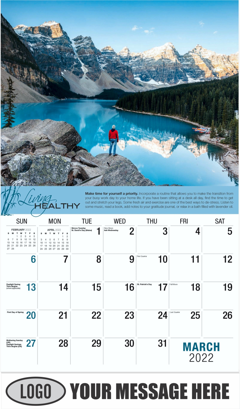 March - Living Healthy 2022 Promotional Calendar