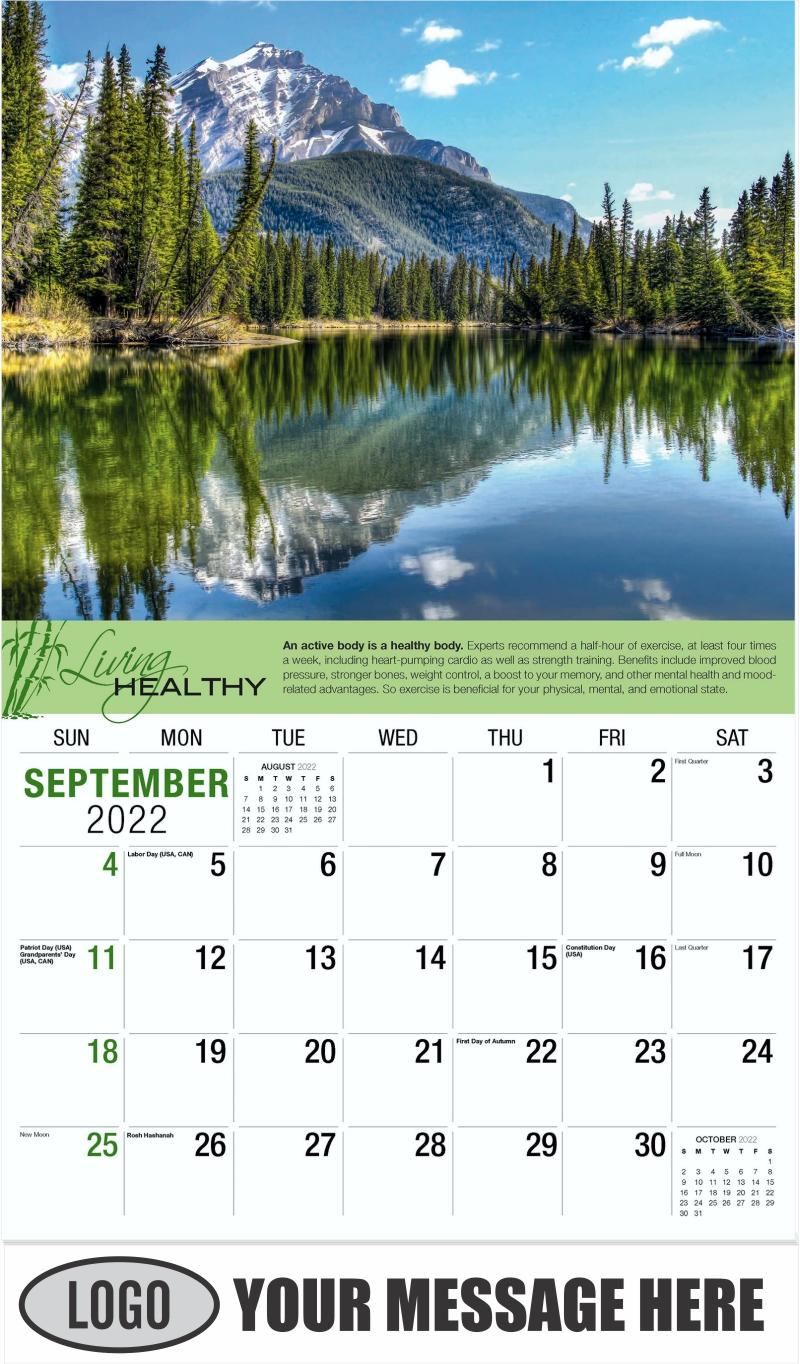 September - Living Healthy 2022 Promotional Calendar