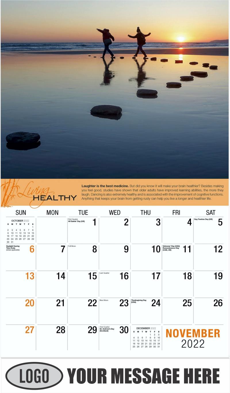 November - Living Healthy 2022 Promotional Calendar