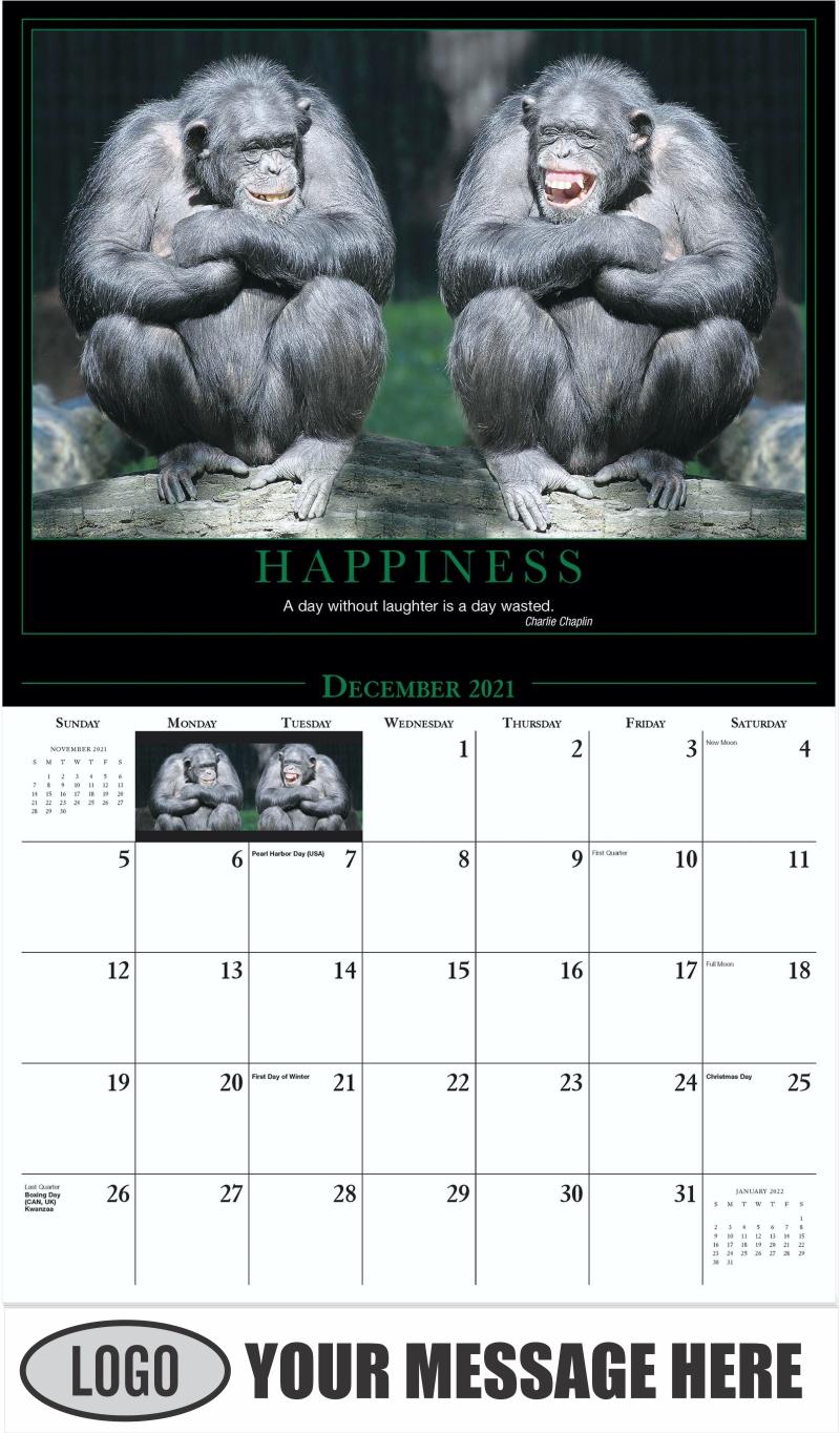 Happiness - December 2021 - Motivation 2022 Promotional Calendar