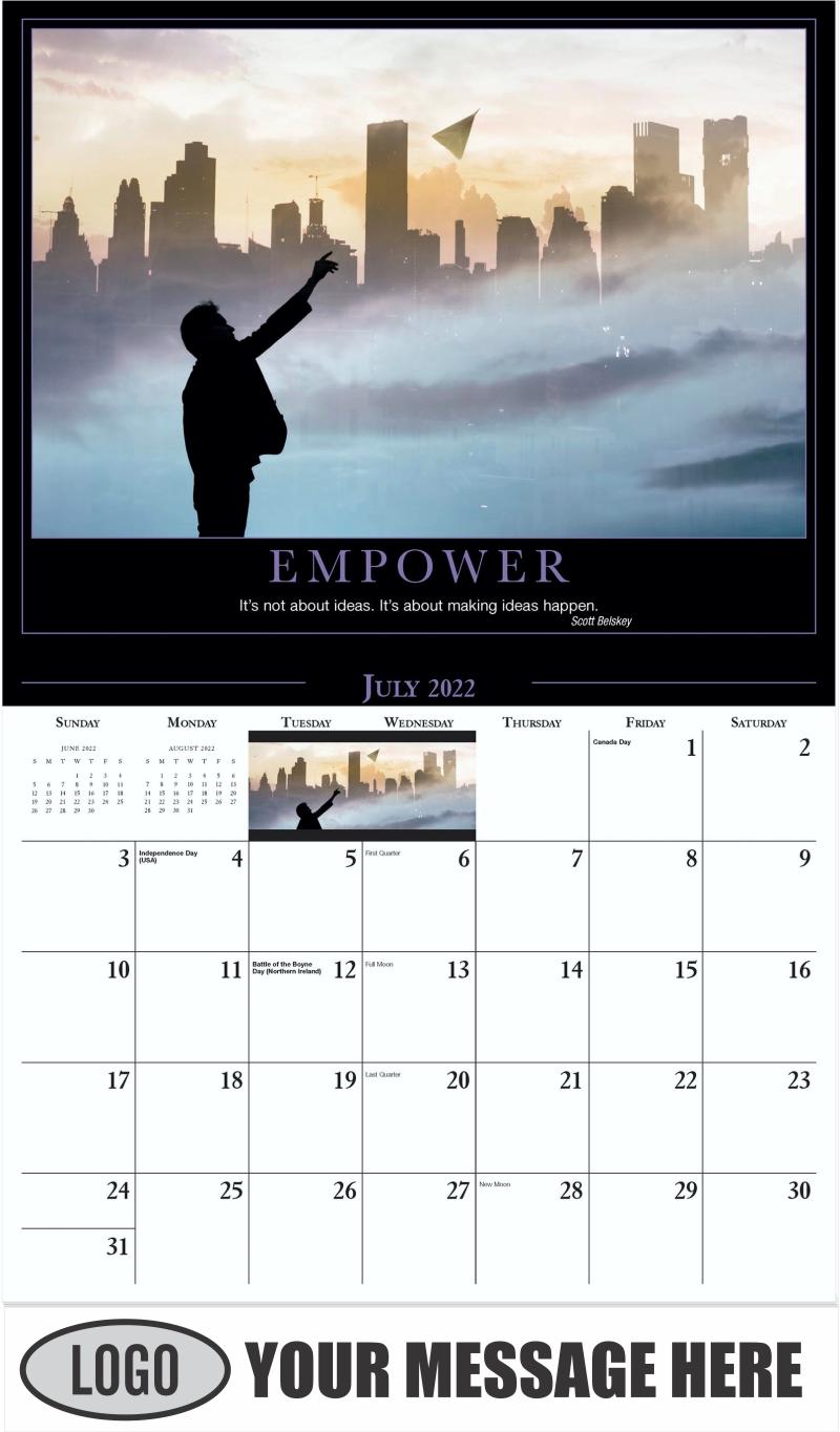 Empower - July - Motivation 2022 Promotional Calendar