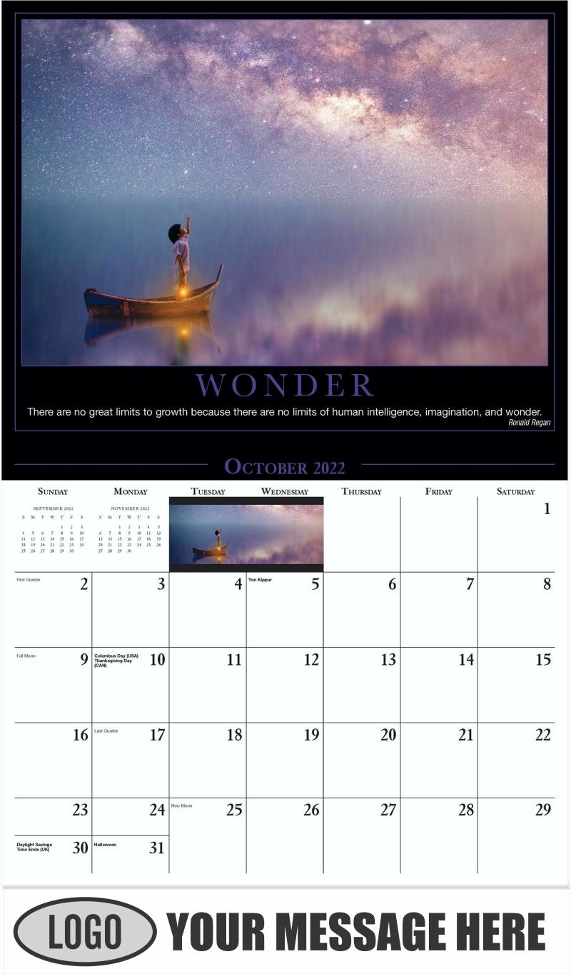 Wonder - October - Motivation 2022 Promotional Calendar