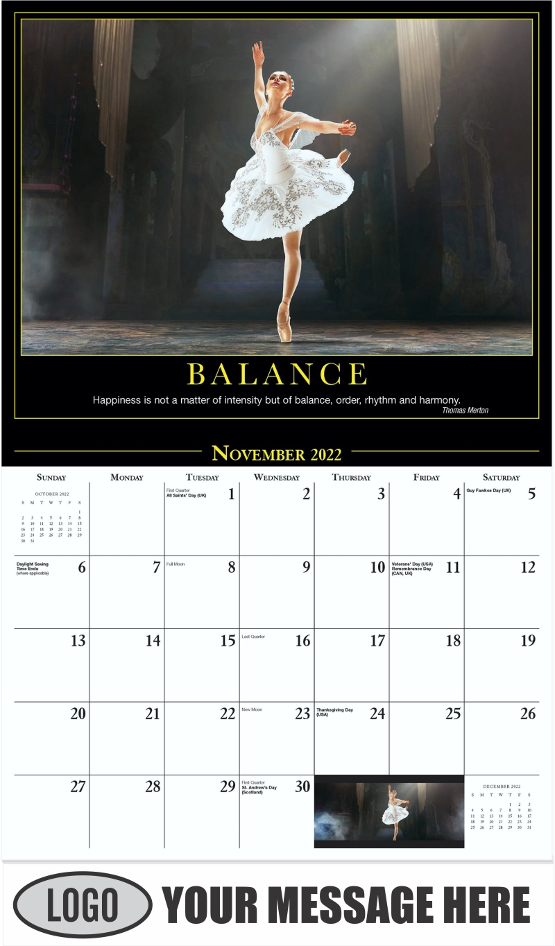 Balance - November - Motivation 2022 Promotional Calendar