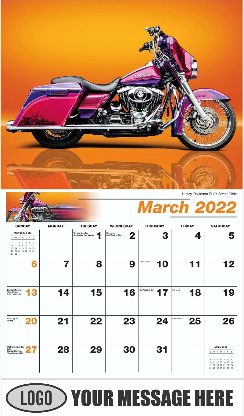 Harley-Davidson FLHX Street Glide - March - Motorcycle Mania 2022 Promotional Calendar