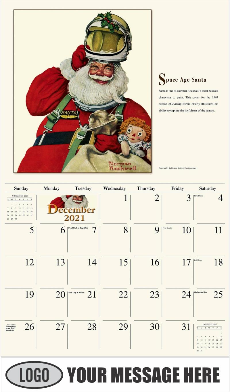 Space Age Santa - December 2021 - Norman Rockwell - Memorable Images 2022 Promotional Calendar