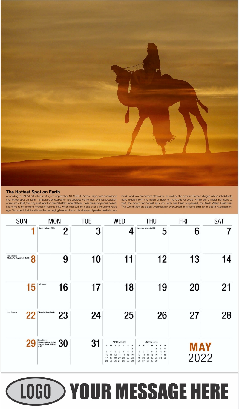 2022 Planet Earth Calendar - May - Planet Earth 2022 Promotional Calendar