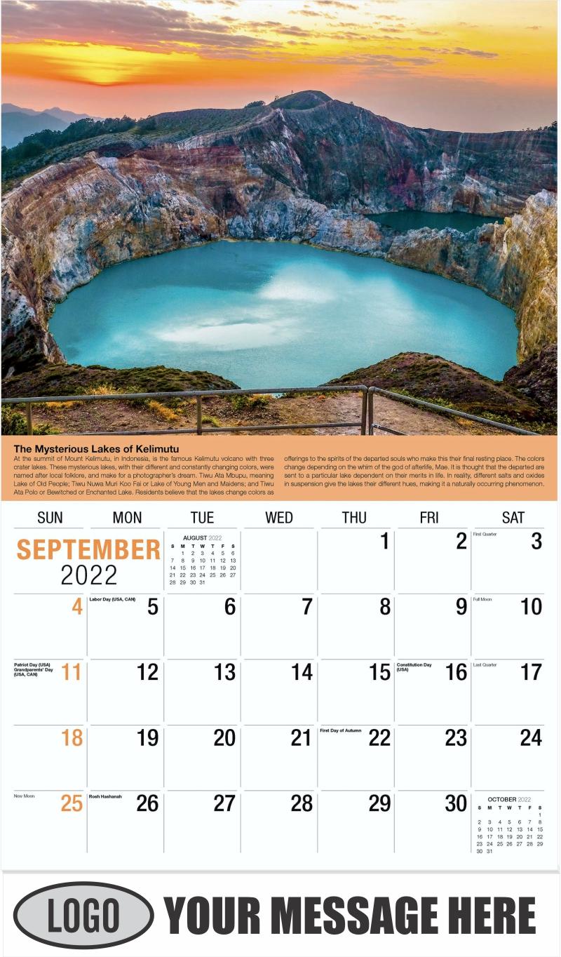 2022 Planet Earth Calendar - September - Planet Earth 2022 Promotional Calendar