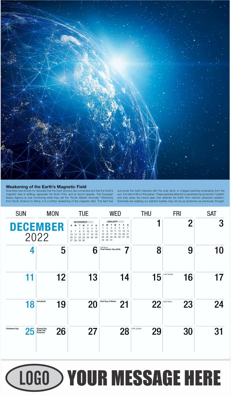 2022 Planet Earth Calendar - December 2022 - Planet Earth 2022 Promotional Calendar