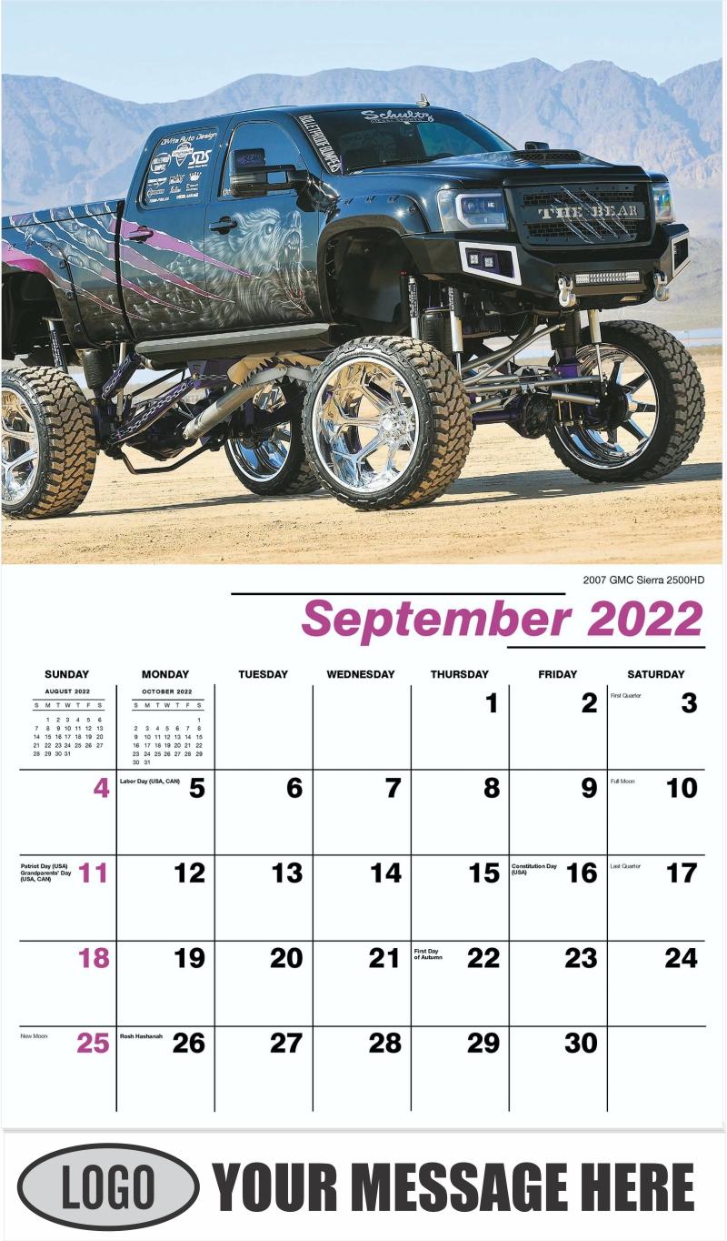 2007 GMC Sierra 2500HD - September - Pumped Up Pickups 2022 Promotional Calendar