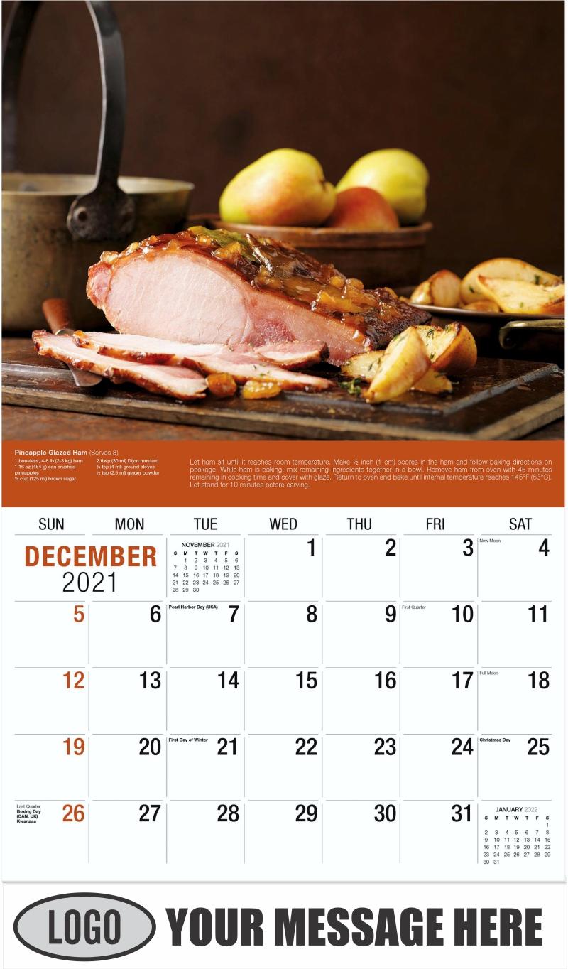 Pineapple Glazed Ham - December 2021 - Recipes 2022 Promotional Calendar