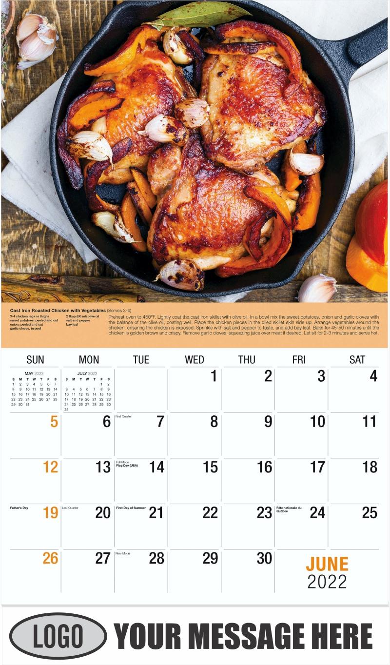 Roast Chicken Legs - June - Recipes 2022 Promotional Calendar