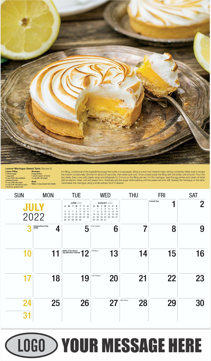 Lemon Meringue Pie - July - Recipes 2022 Promotional Calendar