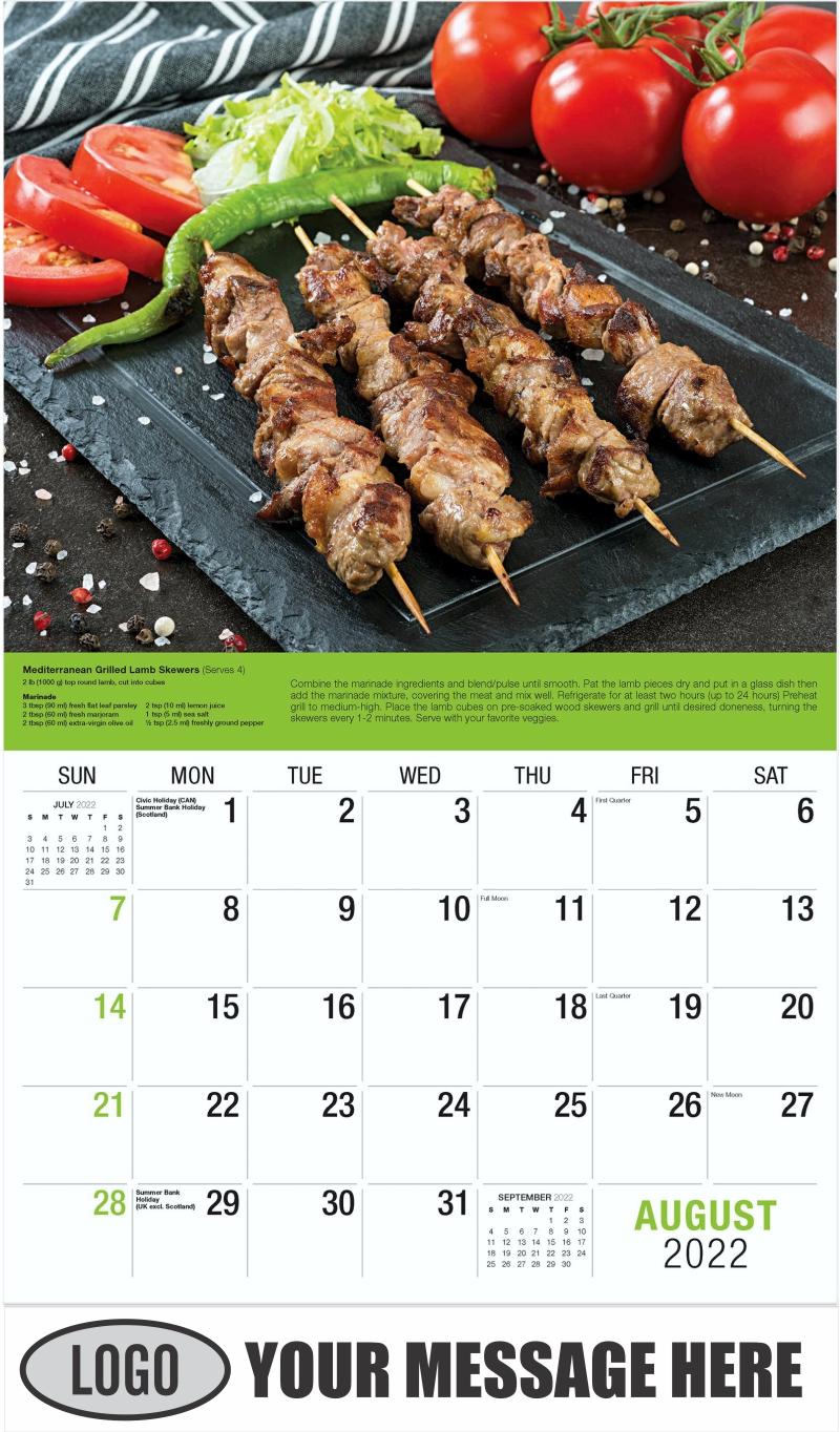Lamb Skewers - August - Recipes 2022 Promotional Calendar