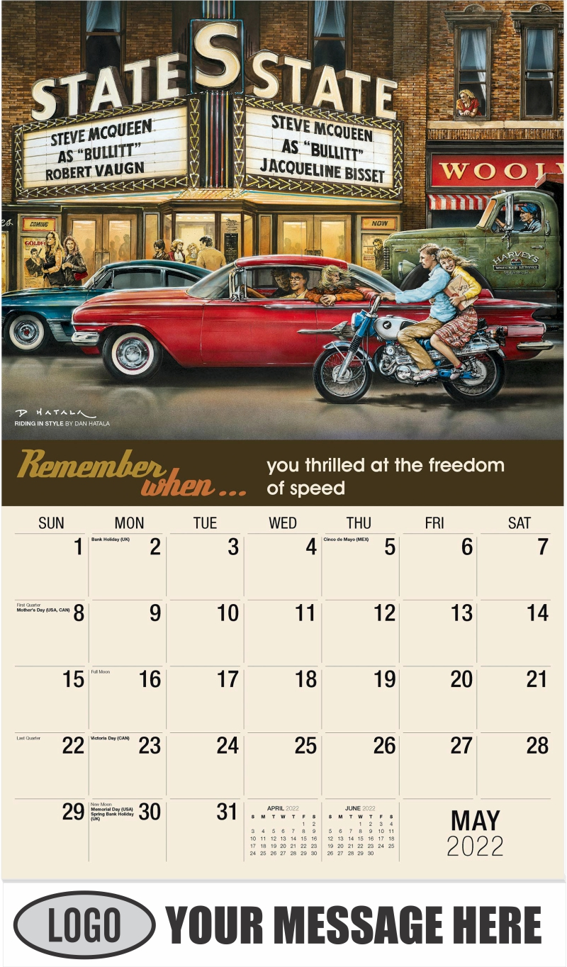Riding in Style by Dan Hatala - May - Remember When 2022 Promotional Calendar