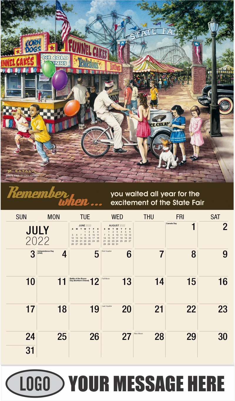 State Fair by Dan Hatala - July - Remember When 2022 Promotional Calendar