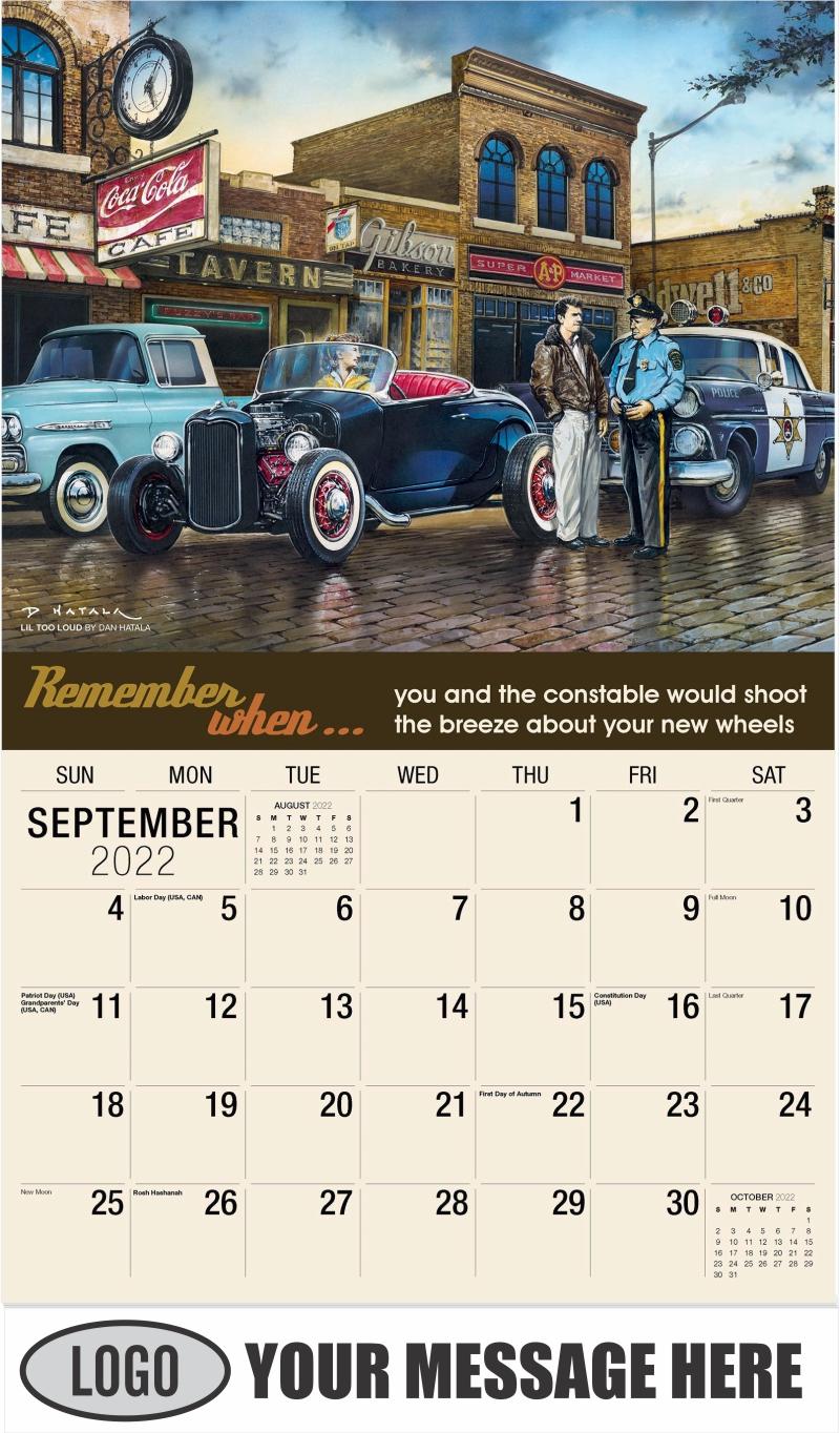 Lil Too Loud by Dan Hatala - September - Remember When 2022 Promotional Calendar