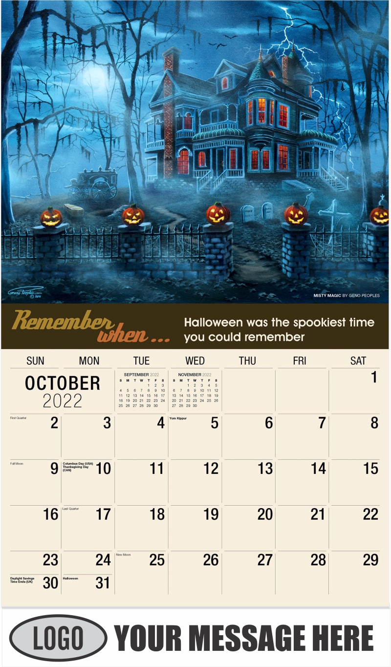 Misty Magic by Geno Peoples - October - Remember When 2022 Promotional Calendar