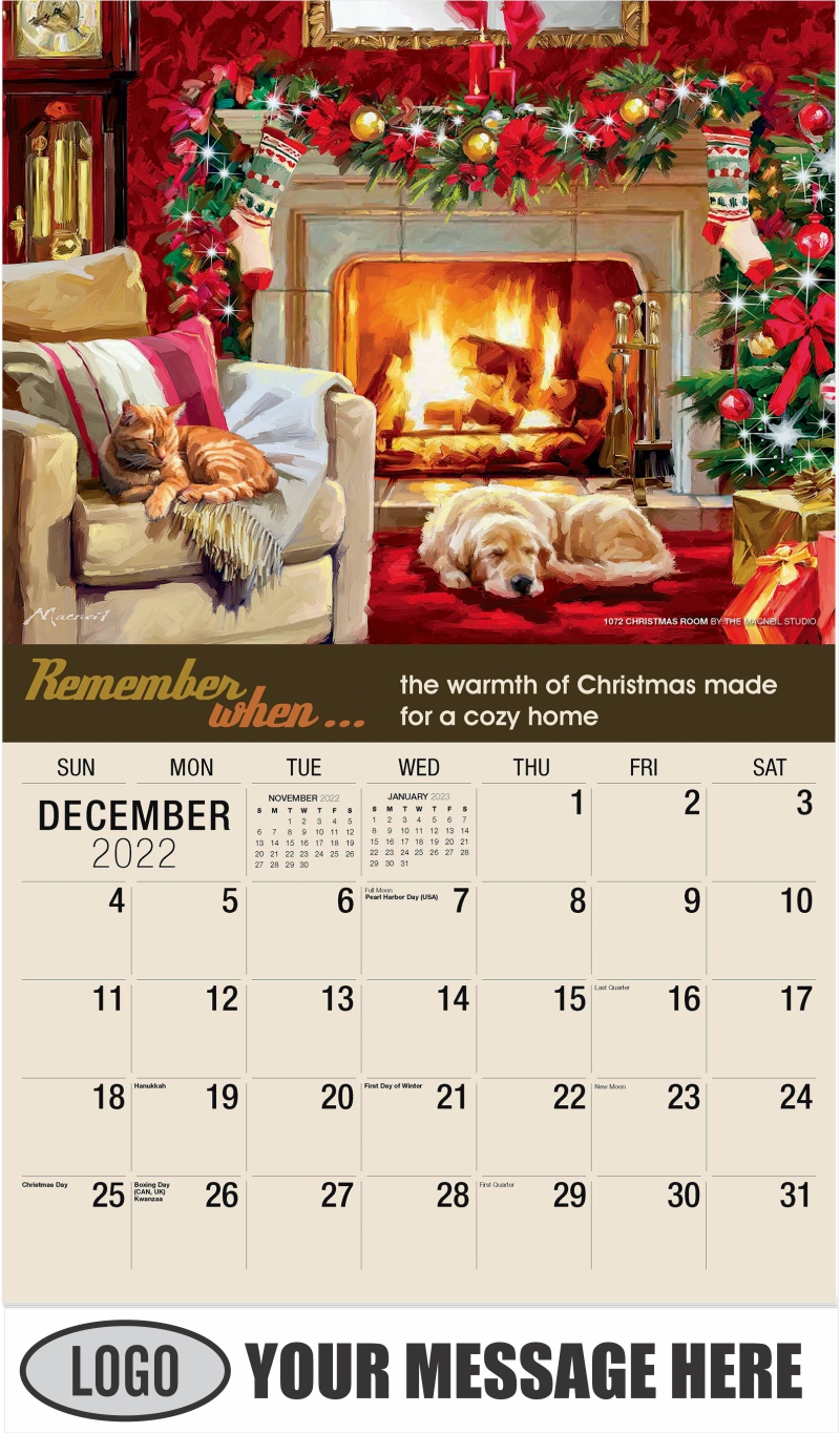 1072 Christmas Room by The Macneil Studio - December 2022 - Remember When 2022 Promotional Calendar