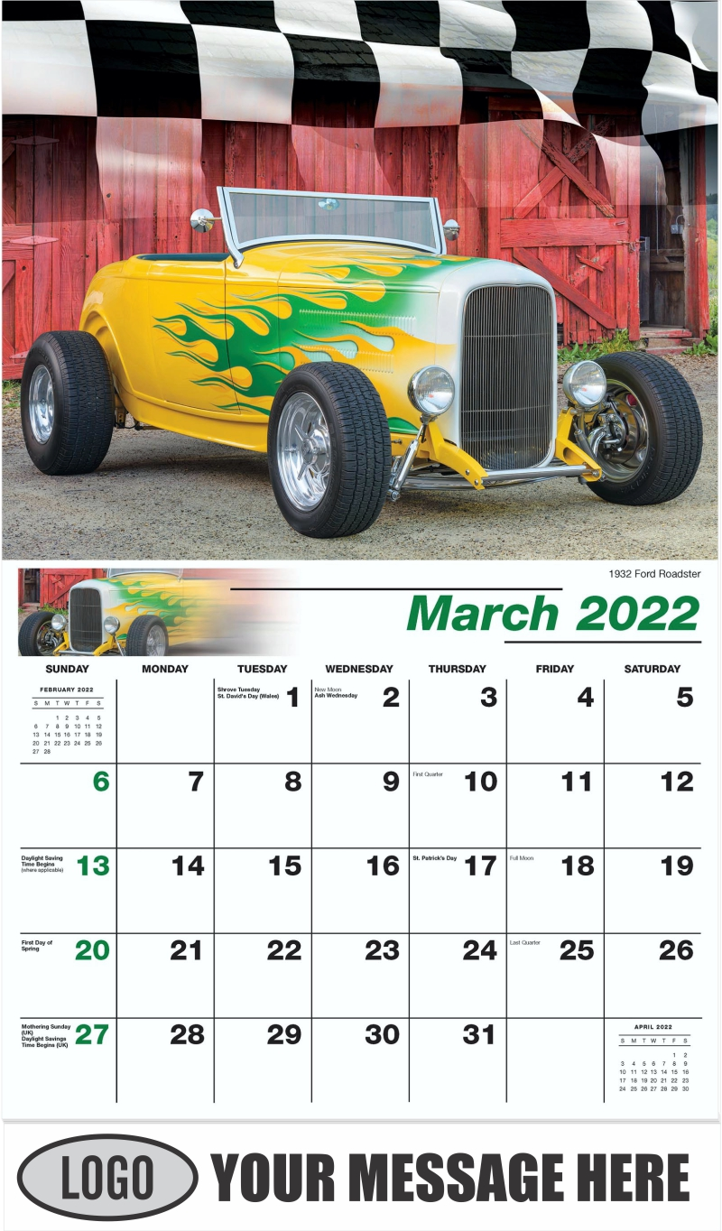 1932 Ford Roadster Hot Rod - March - Road Warriors 2022 Promotional Calendar