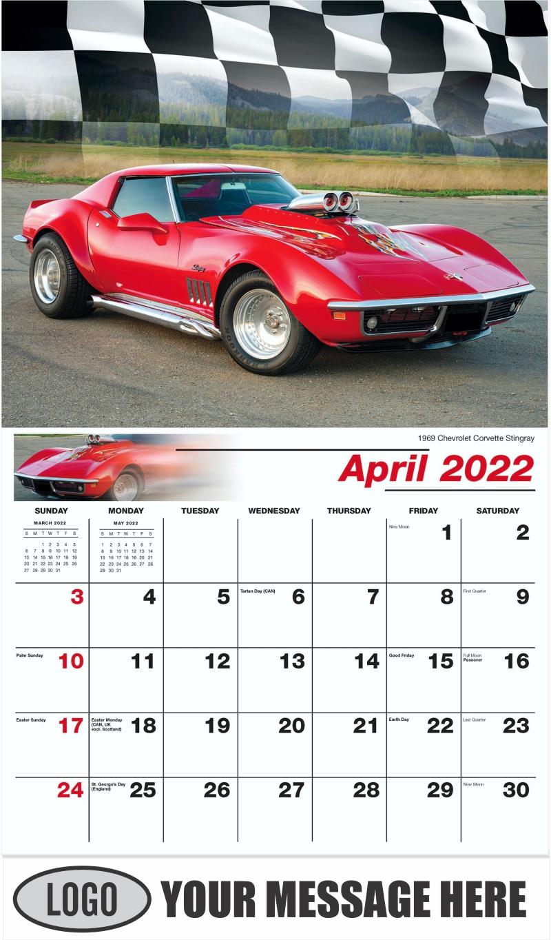 1969 Chevrolet Corvette Stingray - April - Road Warriors 2022 Promotional Calendar