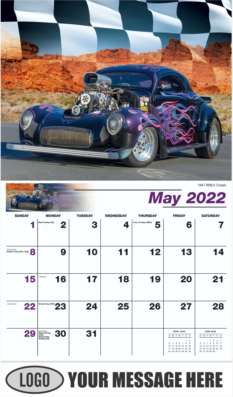 1947 Willy's Coupe - May - Road Warriors 2022 Promotional Calendar