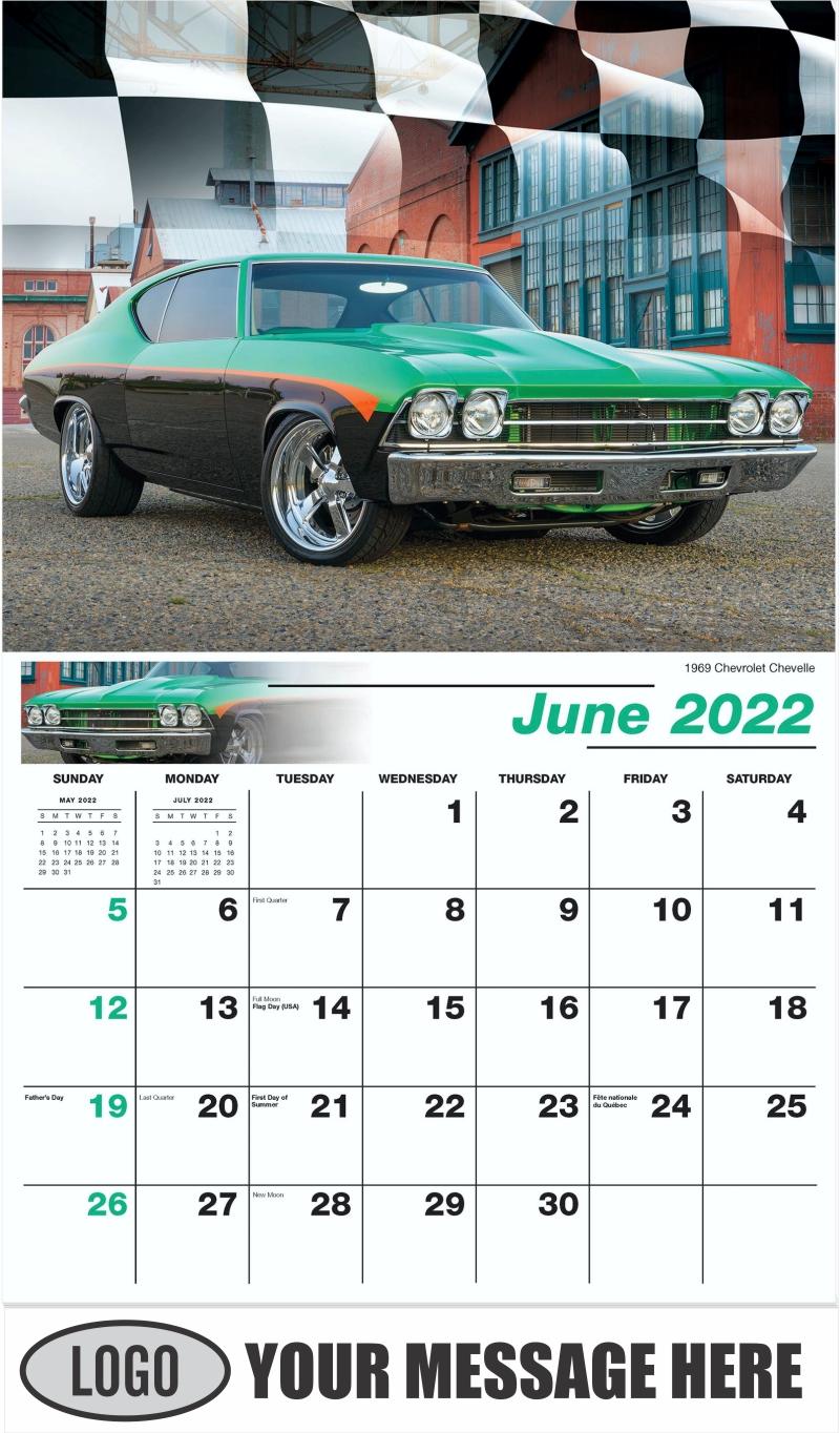 1969 Chevrolet Chevelle - June - Road Warriors 2022 Promotional Calendar
