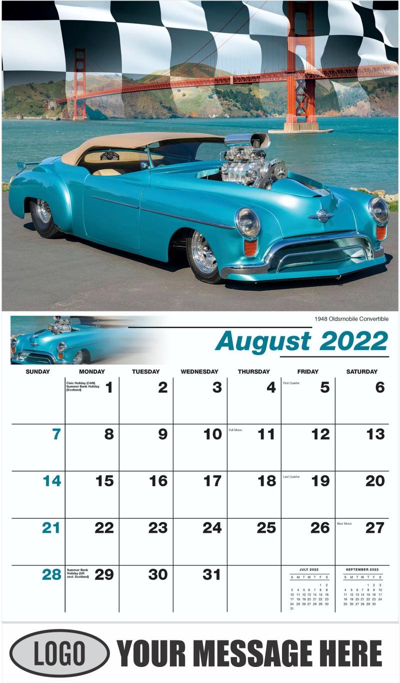 1948 Oldsmobile Convertible Hot Rod - August - Road Warriors 2022 Promotional Calendar