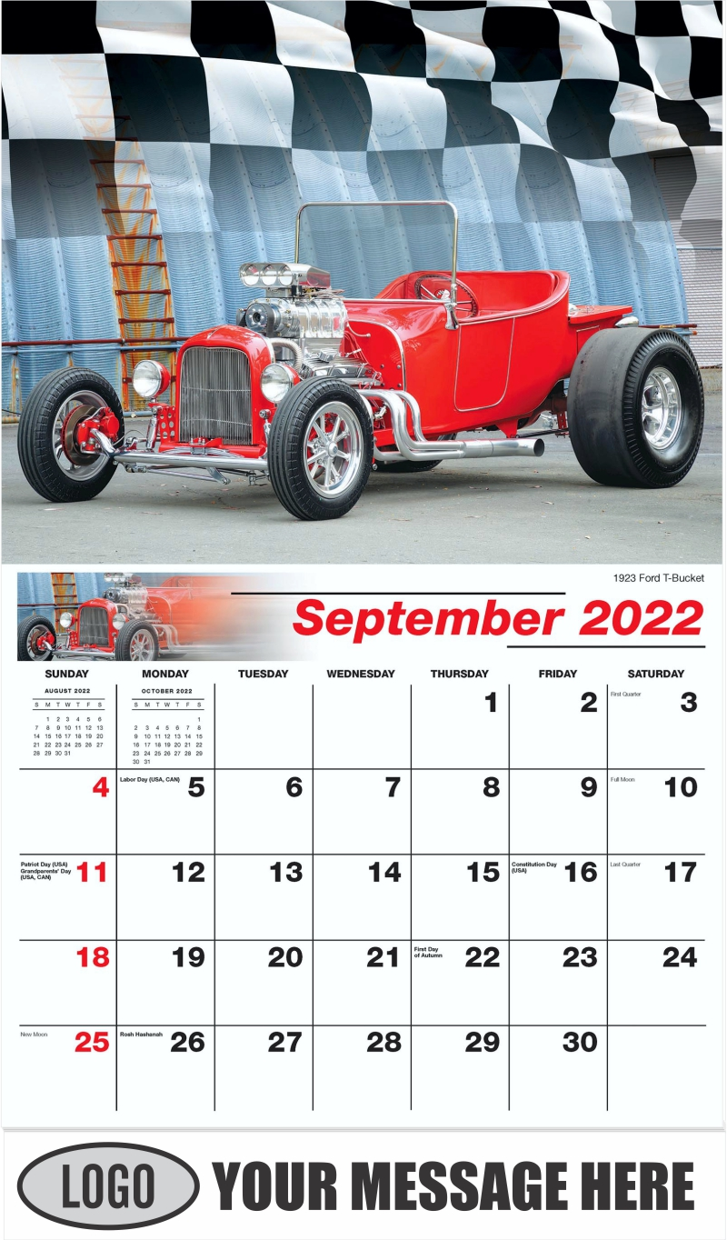 1923 Ford T-Bucket Hot Rod - September - Road Warriors 2022 Promotional Calendar