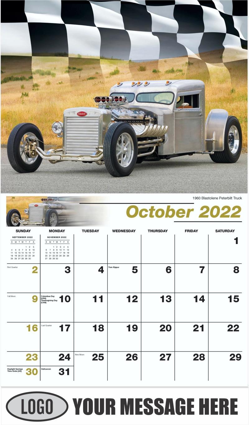 1960 Blastolene Peterbilt Truck Hot Rod - October - Road Warriors 2022 Promotional Calendar