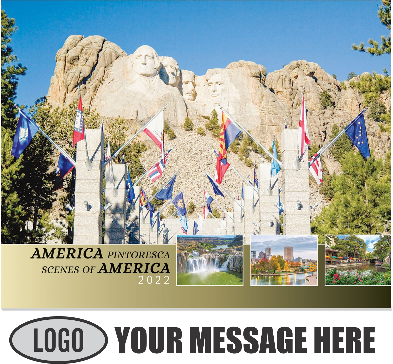 2022 Scenes of America (Spanish-English bilingual) Promotional Calendar