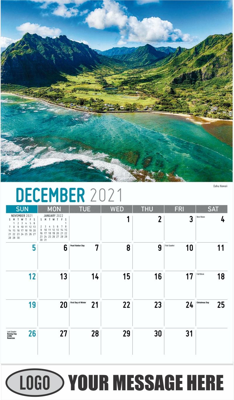 Cape Neddick Lighthouse, York, Maine - December 2021 - Scenes of America 2022 Promotional Calendar