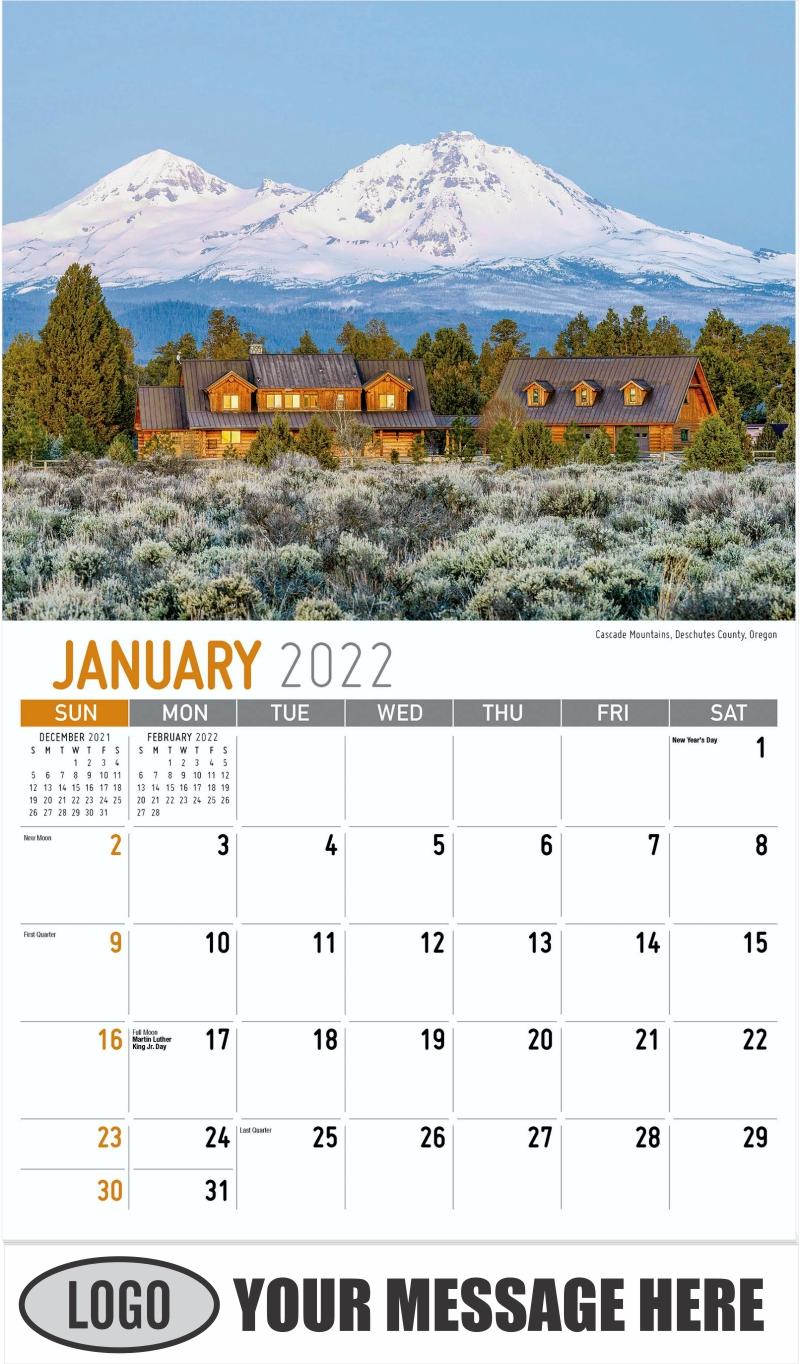 Dream Lake, Rocky Mountain National Park, Colorado - January - Scenes of America 2022 Promotional Calendar