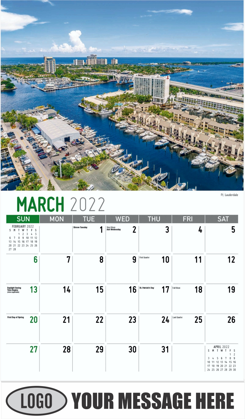 Ft. Lauderdale - March - Scenes of America 2022 Promotional Calendar