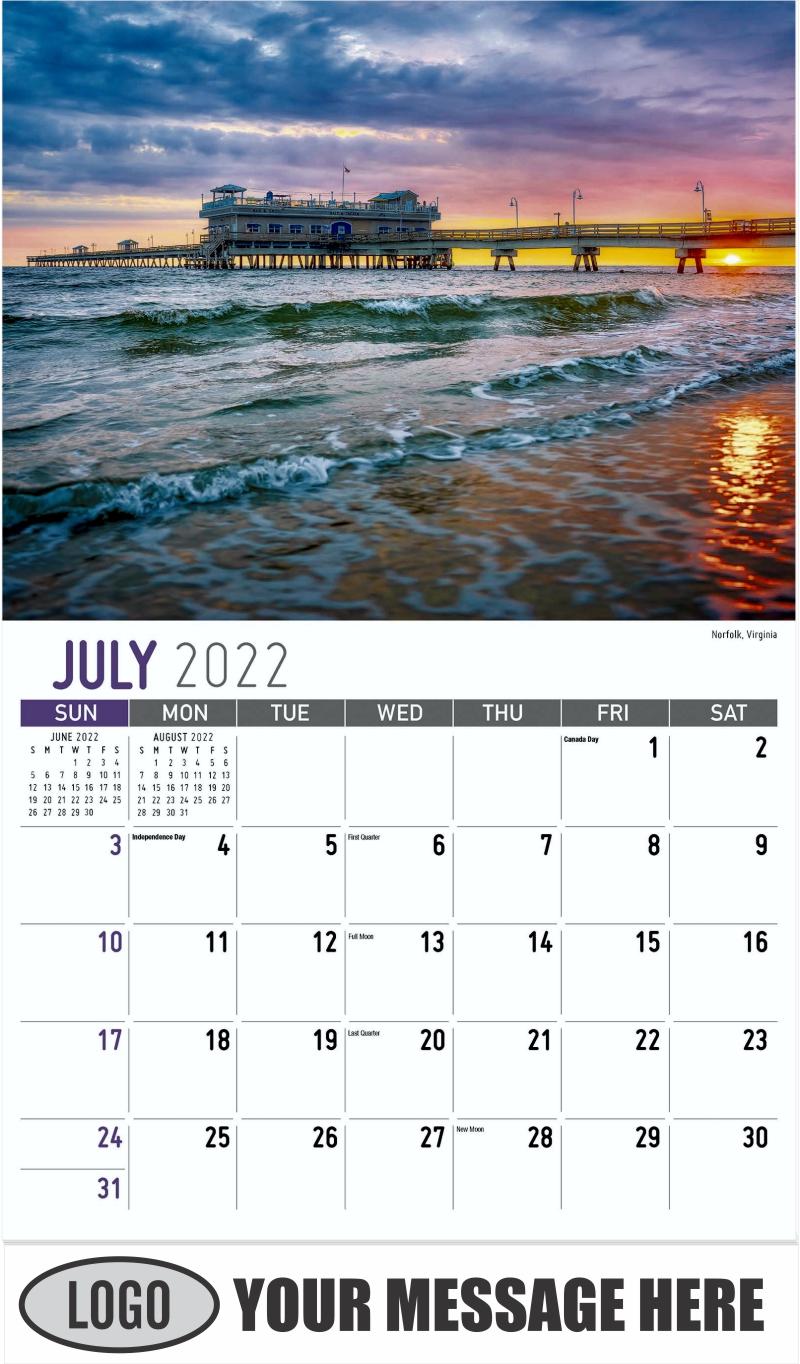 Norfolk, Virginia - July - Scenes of America 2022 Promotional Calendar