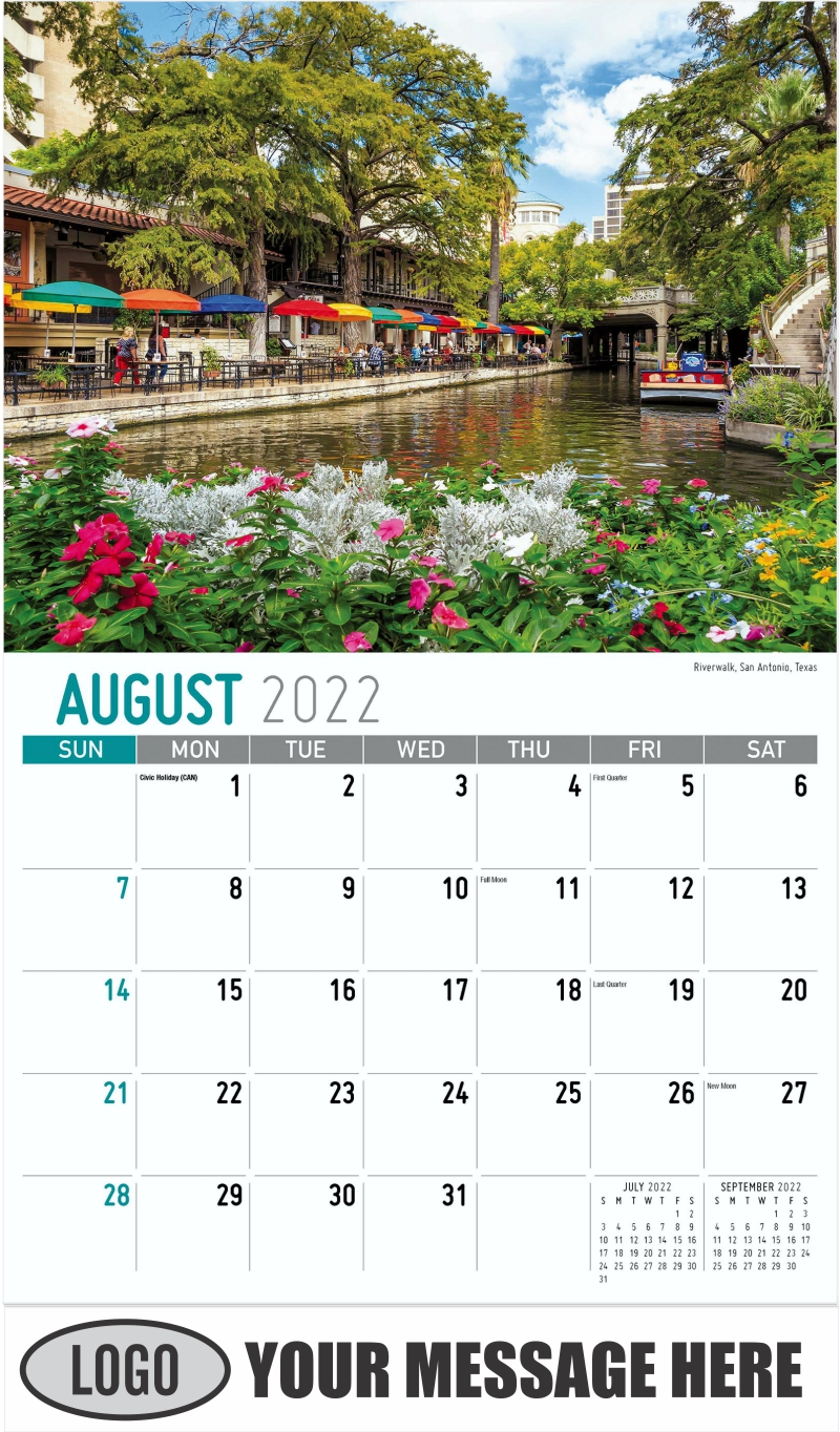 Arkansas State Recreation Area near Decatur, Arkansas - August - Scenes of America 2022 Promotional Calendar