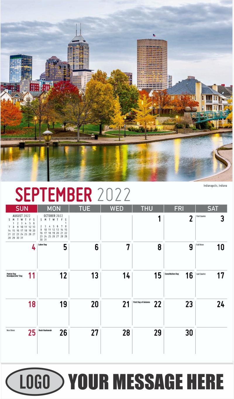 Zion National Park, Utah - September - Scenes of America 2022 Promotional Calendar