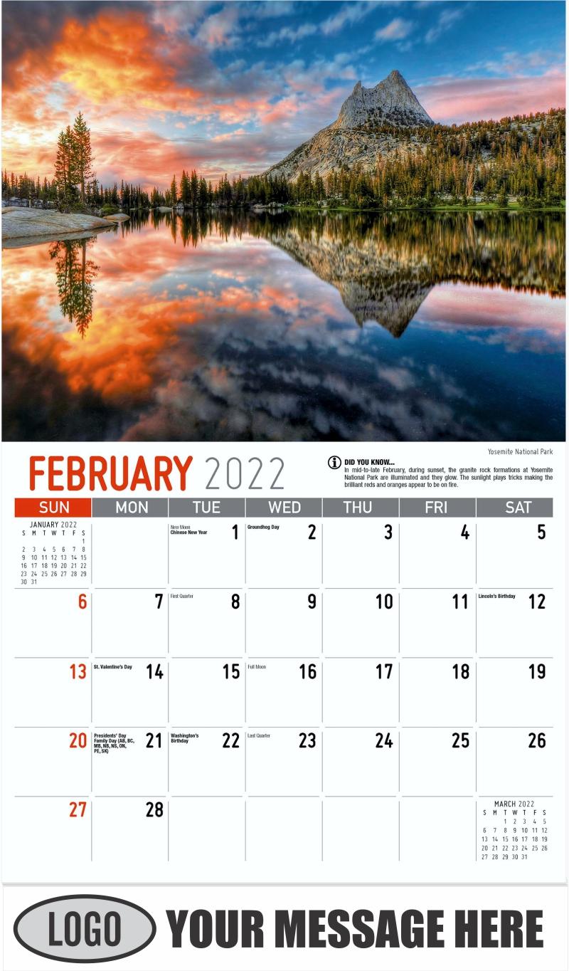 Yosemite National Park - February - Scenes of California 2022 Promotional Calendar