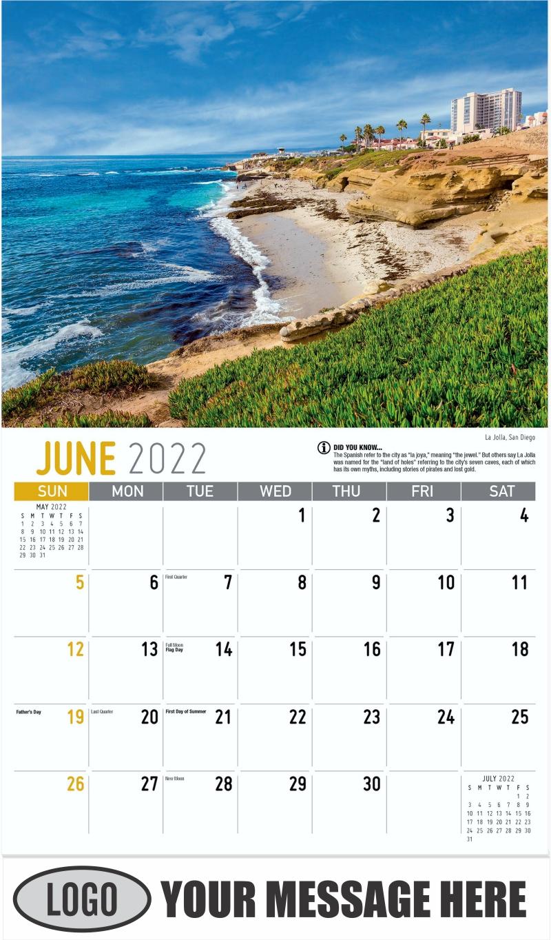La Jolla, San Diego - June - Scenes of California 2022 Promotional Calendar